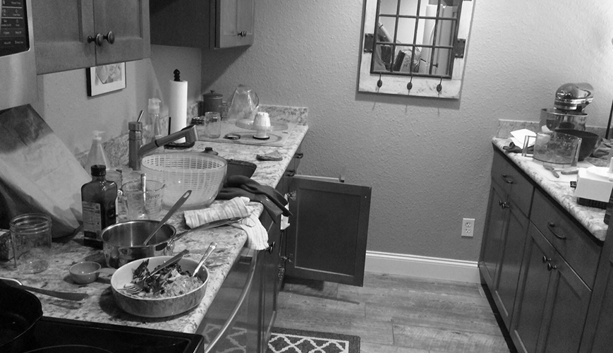 Gratitude: The post-dinner kitchen scene